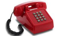 Opis PushMeFon schickes Festnetz-/ Tisch-/ Tastentelefon Stil 1970 rot