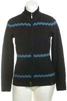 Neve Designs Sweater Wool Nordic Cardigan Charcoal Fair Isle Warm Norwegian