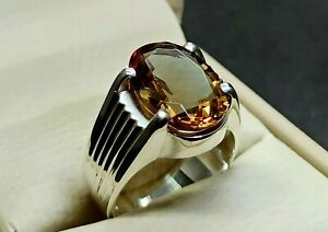 Alexandrite Mens Ring Sterling Silver 925 Handmade Color Changing Gemstone Ring