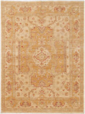 5X7 Hand-Knotted Farhan Carpet Traditional Beige Fine Wool Area Rug D41137