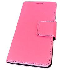 For LG ARISTO MS210 / LV3 - Credit Card ID Wallet Money Pouch Case Hot Pink Silk