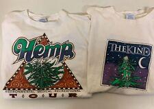 New listing 2 Vintage Tshirts Hemp Cannabis 90's Shirt The Kind Single Stitch L/Xl
