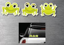 Cute frogs decal stickers 3 pack 7 year water & fade proof vinyl laptop ipad car
