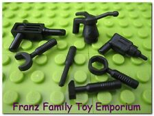 LEGO Minifig Tool Lot of 7 Black Star Wars 4504 10188 7163 10144 7186 7140 Part