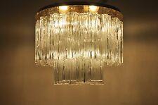 J.T. Kalmar In ottone Candeliere Lampada soffitto con VENINI Tronchi
