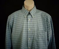 Pendleton Blue plaid long sleeve shirt men's L