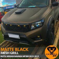 Front Mesh Grill fits NISSAN NAVARA NP300 2015 2016 2017 2018 2019 BLACK D23
