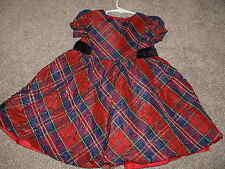 Gymboree Girls Holiday Celebrations Red Plaid Christmas Dress Size 2T 2 Toddler