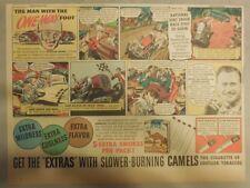 Camel Cigarette Ad: Indy 500 Winner Wilbur Shaw Half Size Page