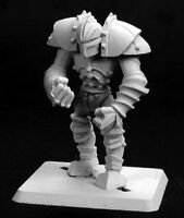 1 x ONYX GOLEM - WARLORD REAPER miniature figurine rpg jdr d&d plate armor 14122