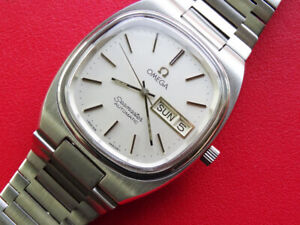 100 %  VINTAGE   MEN  OMEGA  SEAMASTER  AUTOMATIC  CAL 1020   DAY DATE  SERVICED