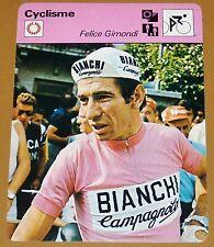 CYCLISME CICLISMO FELICE GIMONDI TOUR FRANCE GIRO  PARIS-ROUBAIX CAMPIONISSIMO