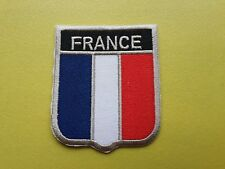 WORLDWIDE FREEPOST COUNTRY SHIELD FLAG SEW & IRON ON PATCH - FRANCE