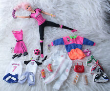 OOAK Item Barbie Vintage Pink Hair Hybrid Doll Made to Move Body Football Player