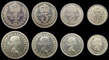 More details for elizabeth ii 1955 full maundy set - fourpence, threepence, twopence, penny