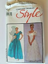 Wedding Dress Sewing Pattern Carolyn Charles for Style Size 12 Formal