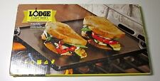 LODGE Indoor Outdoor Grill Reversible Cast Iron Grill Griddle NEW! 16 3/4 X 9.5""