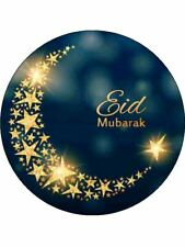 "7.5"" Ramadan Eid Mubarak Edible Premium Rice Paper Cake Topper"