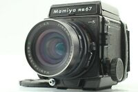 [EXC+5] Mamiya RB67 Pro S Film Camera Sekor C 65mm F4.5 Lens 120 Back From JAPAN