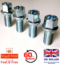 Audi A3 S3 RS3 alloy wheel bolts. M14 x 1.5, radius, 17mm Hex set of 4
