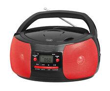 Trevi Stéréo Portable Boombox CD AM FM Radio MP3 AUX-IN SOCKET en rouge et noir