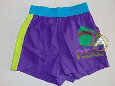 Vintage 90 BRUGI Boxer S Shorts Costume Beach Pantaloncini Viola Costa Smeralda
