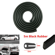 Universal 5m Car Door Window Trim Edge Moulding Weatherstrip Rubber Seal Strip
