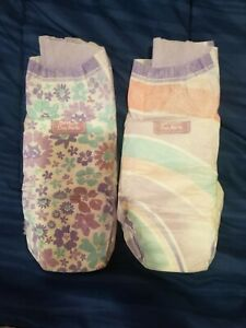 Goodnites XL Diapers. New Size. 95 -140+ Ibs - GIRLS  Sample Pack of Two