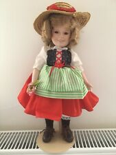 """Shirley Temple Heidi Danbury Mint 14"""" With Certificate and stand 1987"""