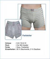 Unifarbene Herren-Boxershorts-Slip-Sets