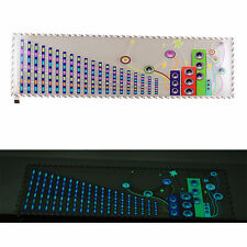 Car Music Rhythm LED Flashing Light Sound Activated Equalizer Sticker 90 x 25cm