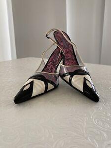 Emilio Pucci Monochrome Heels Size40 Uk7.5