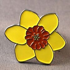 Metal Enamel Pin Badge Brooch Daffodil Daffoddil Flower Yellow Daf Emblem Yellow