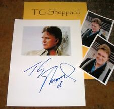 T.G. SHEPPARD Autographed Photo & Photos  COUNTRY