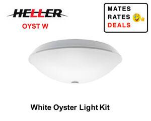 Heller Ceiling Fan 75W E27 Screw Type Globe Oyster Light Kit White-OYST-W- NEW