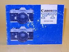 Original(!) Canon FT QL  Instruction Manual - in English!