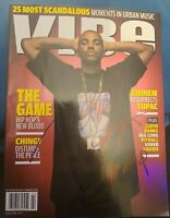 THE GAME SIGNED VIBE MAGAZINE RAPPER G-UNIT 50CENT DRE EM W/COA+PROOF RARE WOW