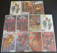 (11) Book Comic LOT ABSOLUTE CARNAGE: SCREAM MILES MORALES #2 3 4 5 Variants NM+