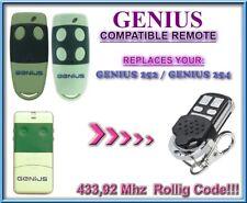 GENIUS 252 / GENIUS 254 compatibile telecomando / 433,92Mhz Rolling code