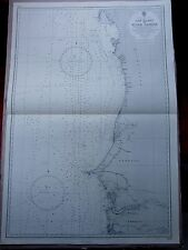 """1962 West Africa CAP BLANC to RIVER GAMBIA Admiralty Sea MAP CHART 28"""" x 41"""" D09"""