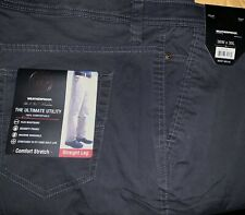 Weatherproof 36x30 Men's stretch cotton Work Jeans Straight Leg Pants Steel Gray