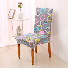 Dining Chair Cover Chair Protector Stretch Slipcover Home Decor-Gray Circle