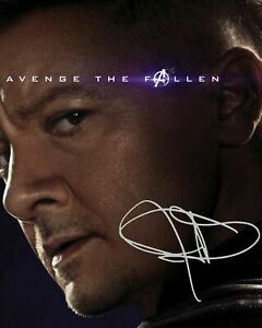 JEREMY RENNER - HAWEYE - AVENGERS SIGNED AUTOGRAPHED A4 PP PHOTO POSTER