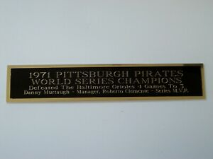 Pittsburgh Pirates 1971 World Series Nameplate For A Baseball Jersey 1.5 X 8