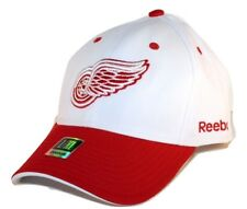 Detroit Red Wings Reebok TZM13 NHL Red & White Stretch Fit Hockey Cap Hat L/XL