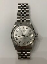 NEEDS FIXING- MENS ROLEX DATEJUST 18K WHITE GOLD & STAINLESS STEEL DIAMOND WATCH