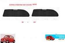 COPPIA 2 PANTINA ALETTA PARASOLE FIAT 500 F L R D N COLORE NERO