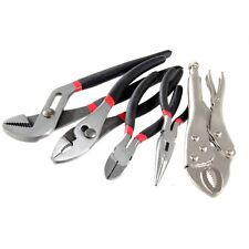HOUSEHOLD GROOVE AND SLIP JOINT, LONG NOSE, LOCKING, DIAGONAL PLIERS TOOL SET