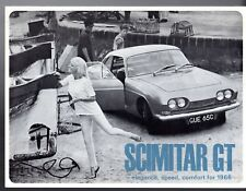 Reliant Scimitar GT 1965-66 UK Market Foldout Sales Brochure