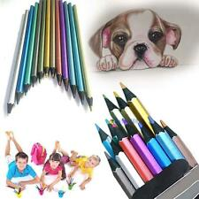 12 pcs Metallic Non-toxic Colored Drawing Pencils 12 Colors Drawing Sketching TE